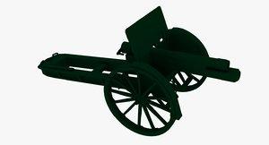 artillery gun 3d 3ds