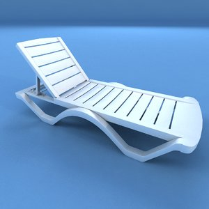 3d sunbed modeled