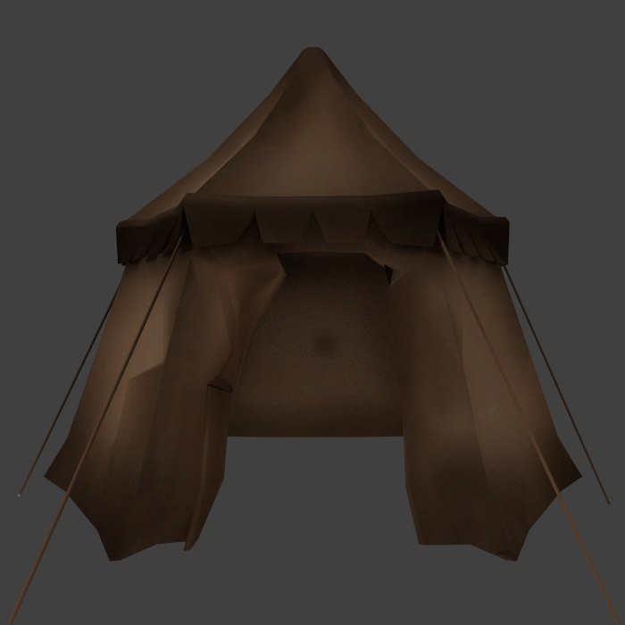 3ds medieval tent
