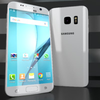3d model samsung galaxy s7 white