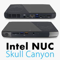 3d intel skull canyon model