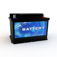 car battery 3d 3ds