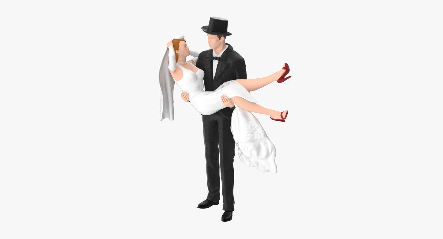 bride groom miniatures 02 obj