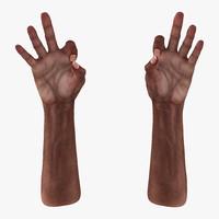 3d old african man hands