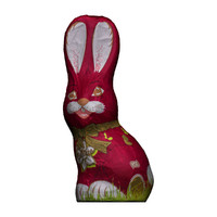 Chocolate easter bunny red
