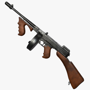 thompson submachine gun pbr 3d max