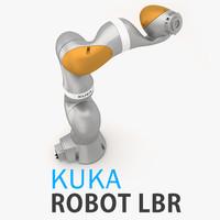 3d kuka robot lbr model