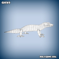 obj base mesh gecko
