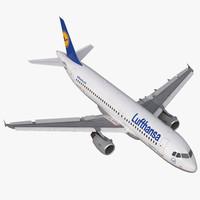 Airbus A320 Lufthansa Rigged