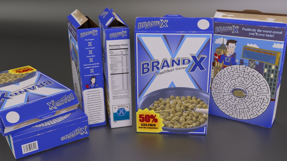 generic cereal box blend