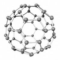 buckminsterfullerene molecule c60 3d model