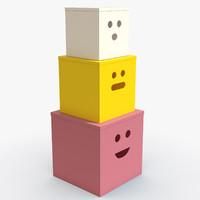 3d toys boxes model