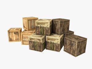 3d box cargo model