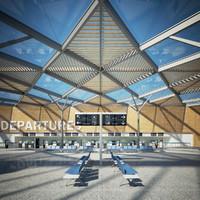 3d interior airport