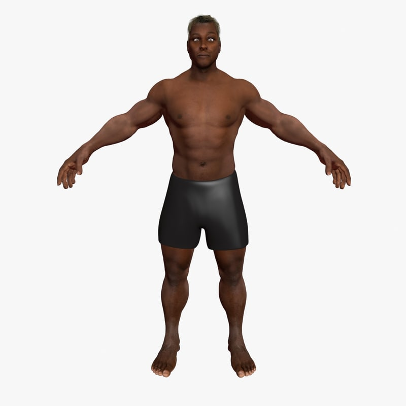 african american male 3d max