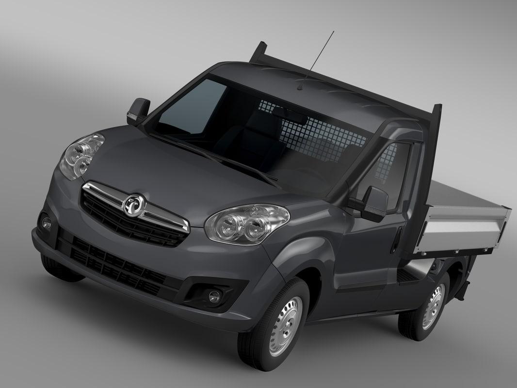 vauxhall combo tipper 2015 3d model