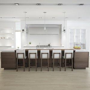 3d model kitchen scene