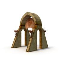ancient gate 3d model