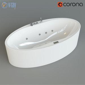 oval bathtube zaphiro max