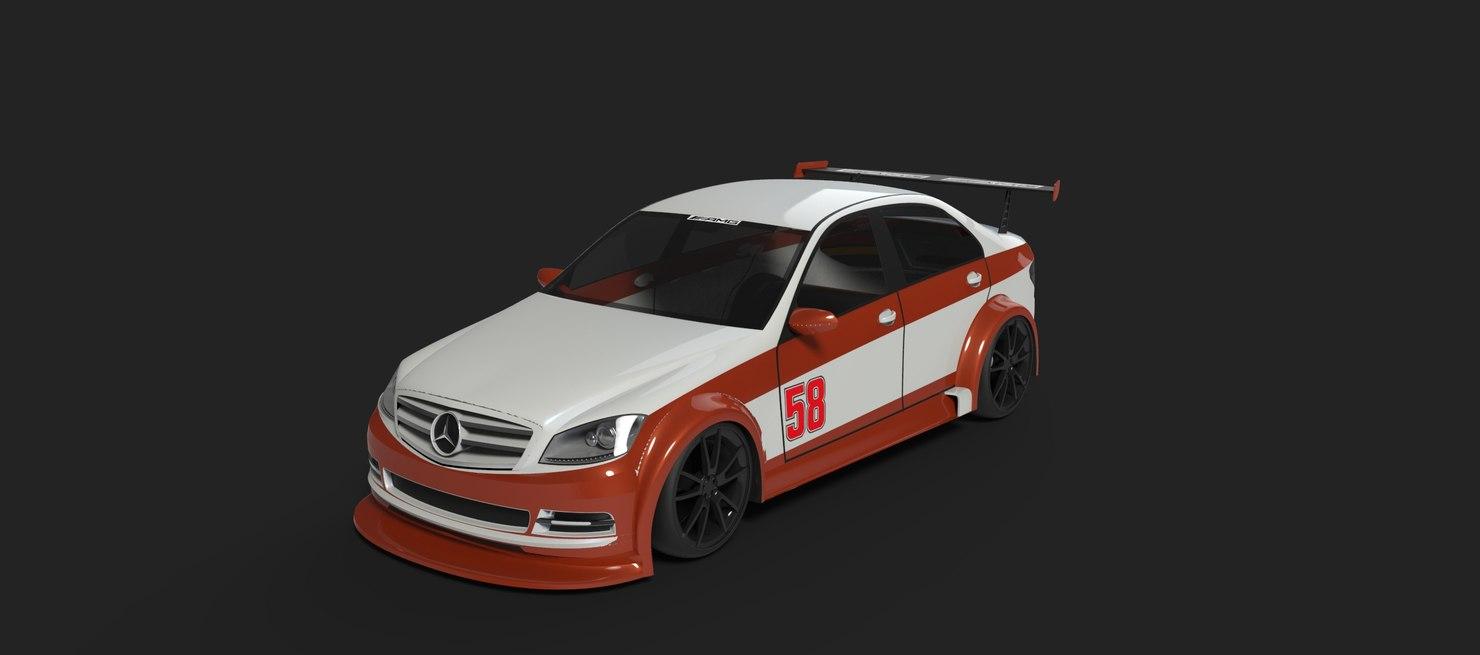 3d mercedes racing