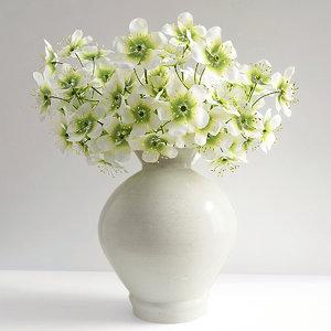 3d model stock flower vase