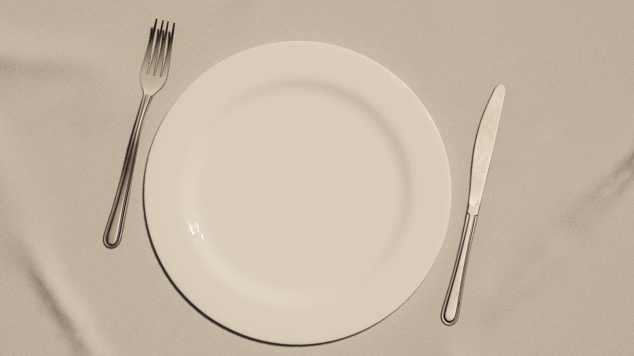 3d model fork knife dinner