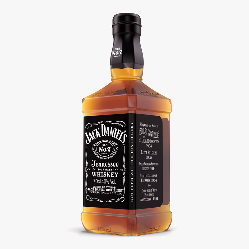 3d jack daniels bottle