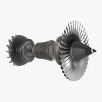 3d turbine 4 model