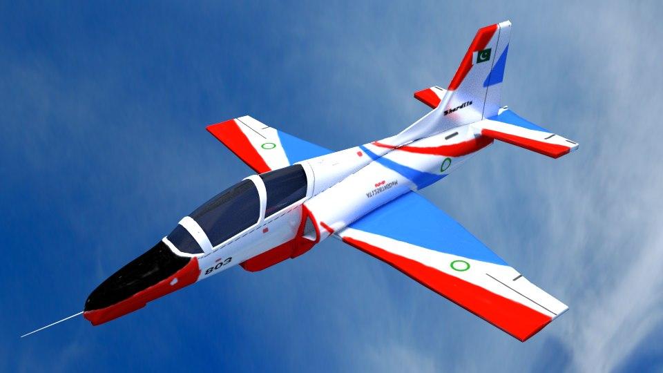 3d model of k-8 jet