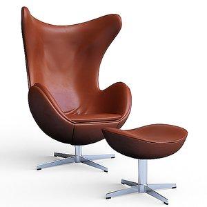 3d arne jacobsen egg chair