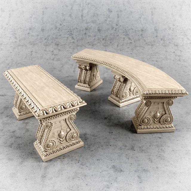 classic bench 3d model