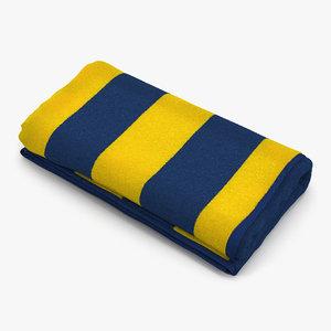 beach towel 3 yellow 3d max