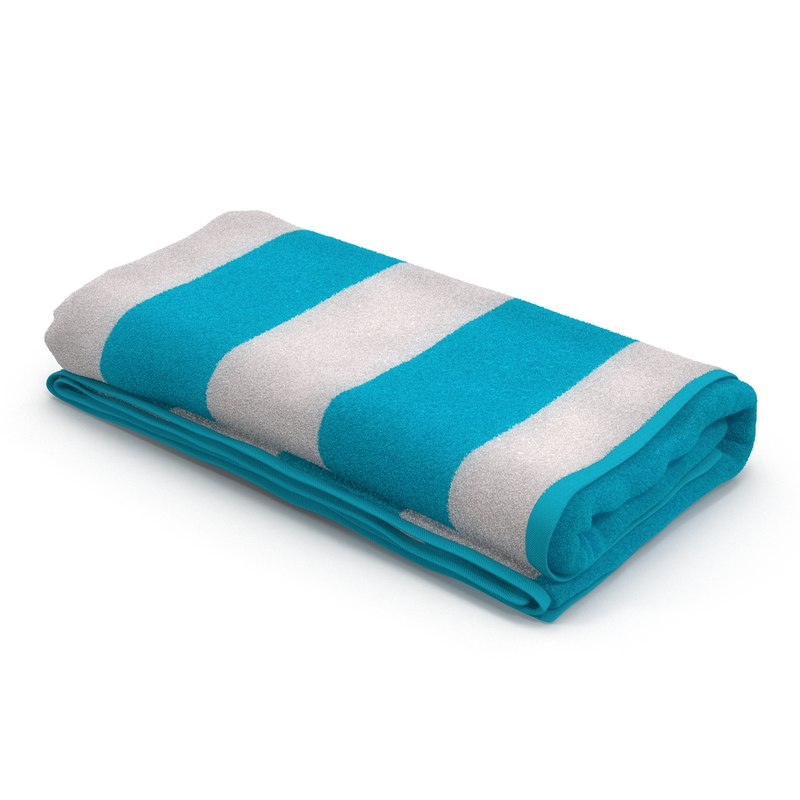 3d beach towel 3