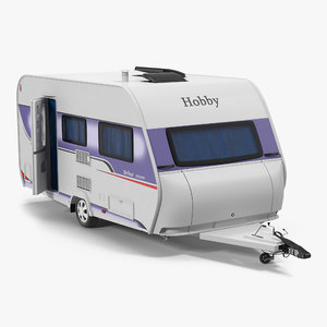 hobby caravan ontour rigged 3d model