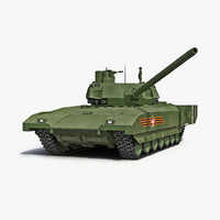 3d russian main battle tank model
