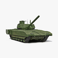 3d model tank t-14 armata rigged