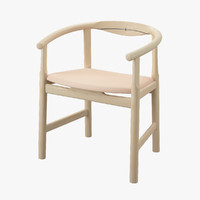 3d model wegner pp203 chair hans j