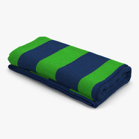 beach towel 3 green 3d max