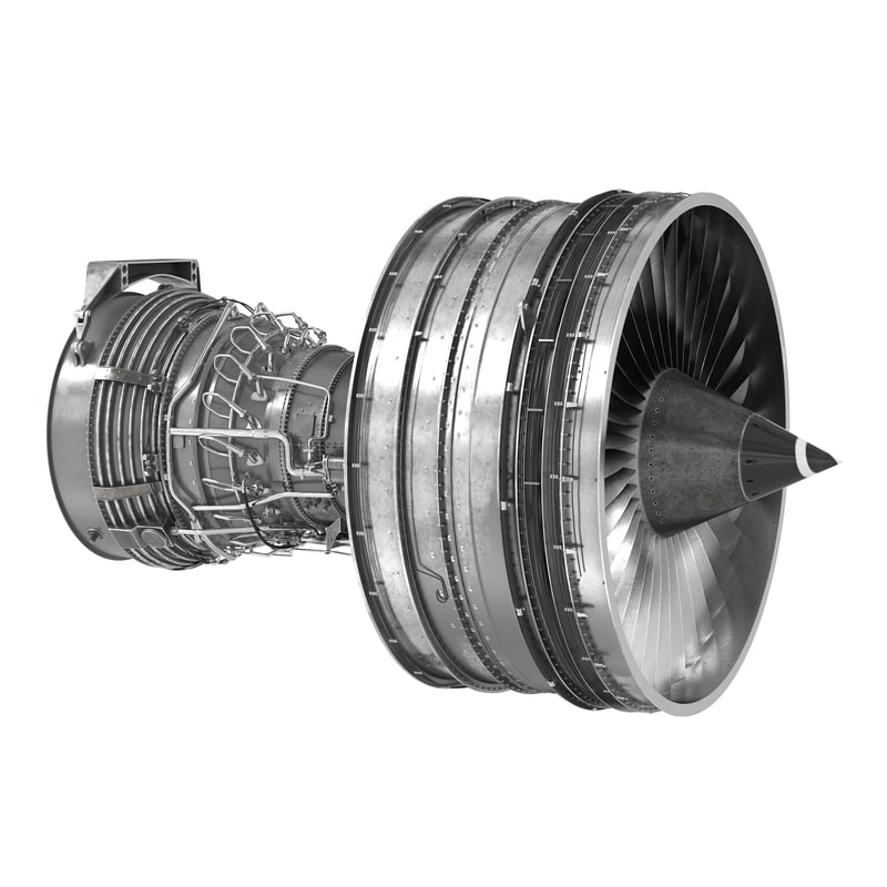 3ds turbofan aircraft engine