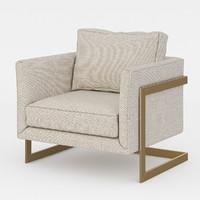 3d armchair milo baughman