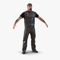 biker man fur 2 3d max