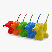 3d balloon mouses set