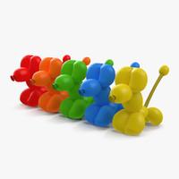 Balloon Poodles 3D Models Set