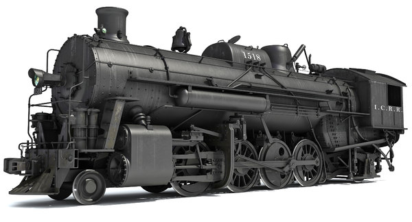 3d model steam locomotive modeled