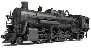 3d model steam locomotive modeled