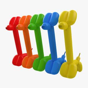 c4d balloon giraffes set