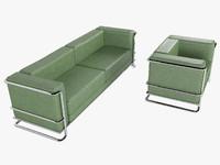 sofa lobby 3d model