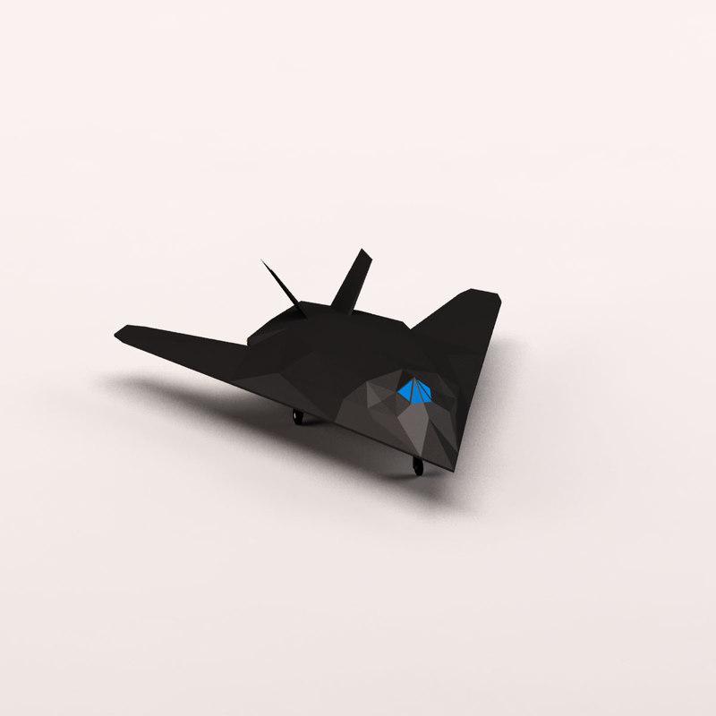 max cartoon stealth bomber