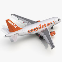 airbus a318 easyjet 3d 3ds