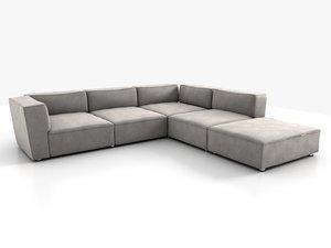 3ds corner sofa